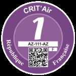 Label Crit'air 1