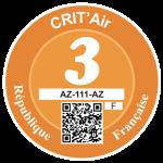 Label Crit'air 3